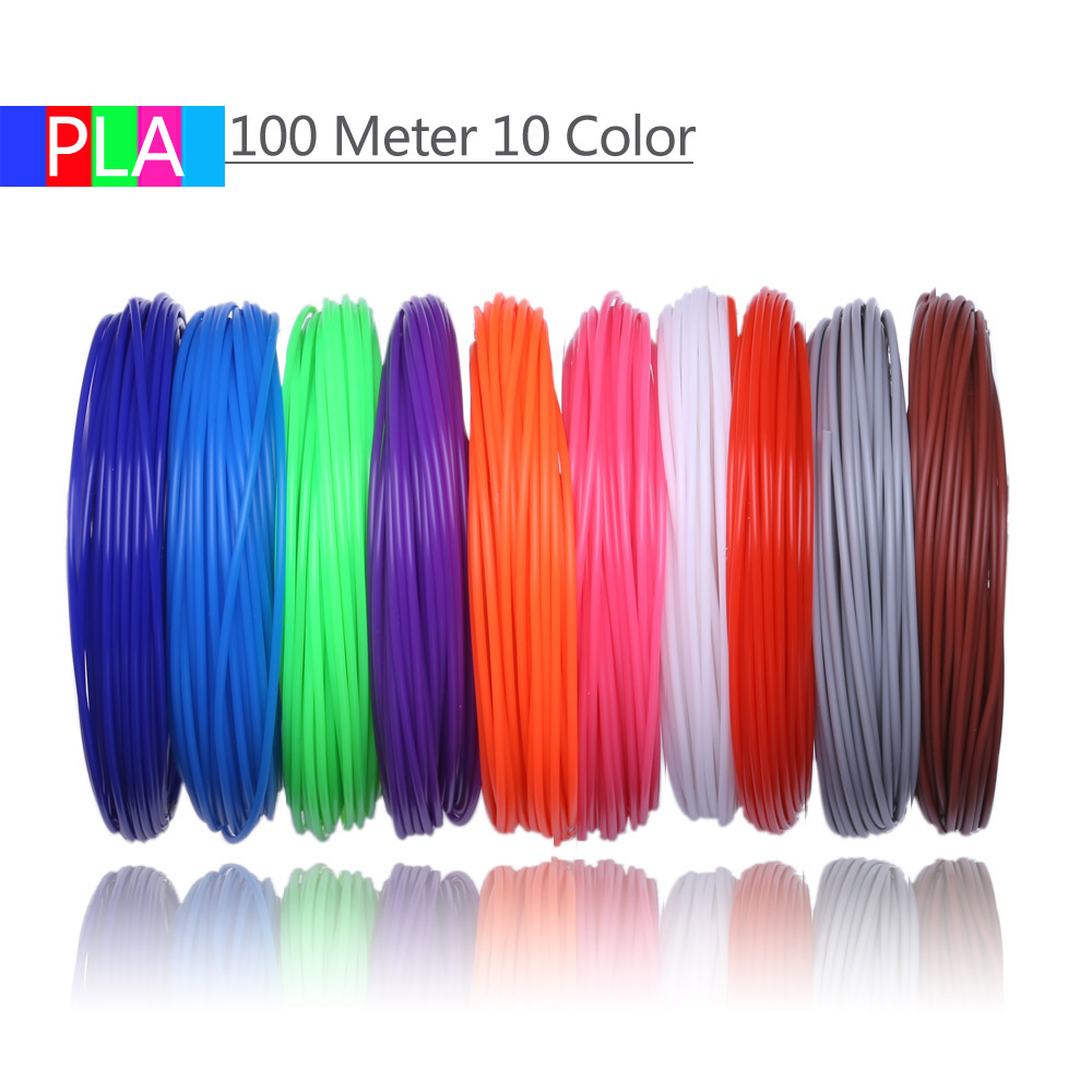 lowest price 3D Pen PLA Filament 200 Meters 20 Colors 1 75MM Threads Plastic 3 d Printer Materials For 3D Printing Pens Kid Birthday s Gifts