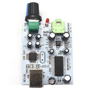 Image 3 - Lusya CM108 + TDA1305T + TDA1308 الصوت بطاقة IIS/I2S إلى 3.5 مللي متر الناتج USB أمبير USB DAC فك a1 009