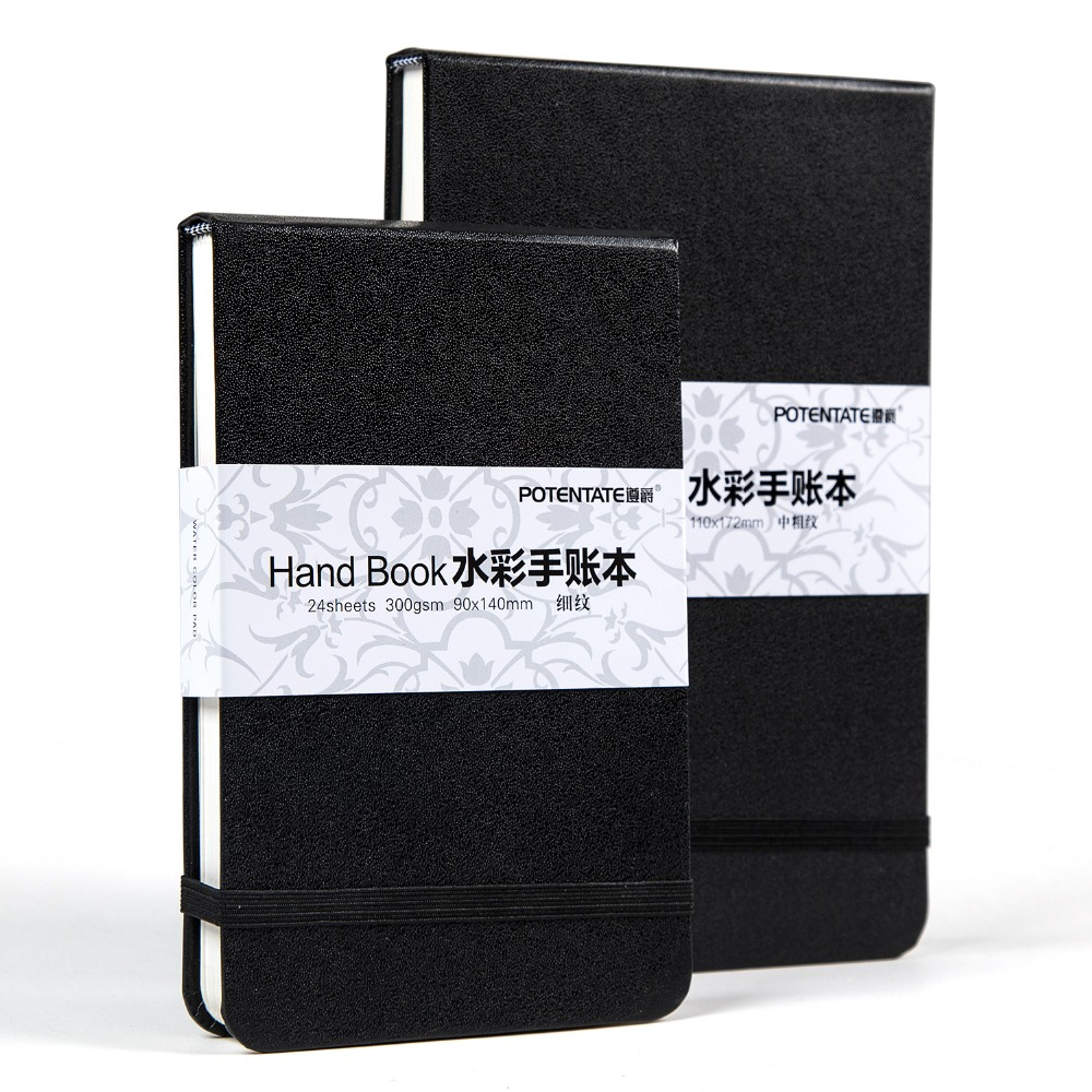 POTENTADO 300gsm 24 Folhas Almofada Da Aguarela Esboço Papelaria Caderno De Desenho Esboço Marcador Suprimentos