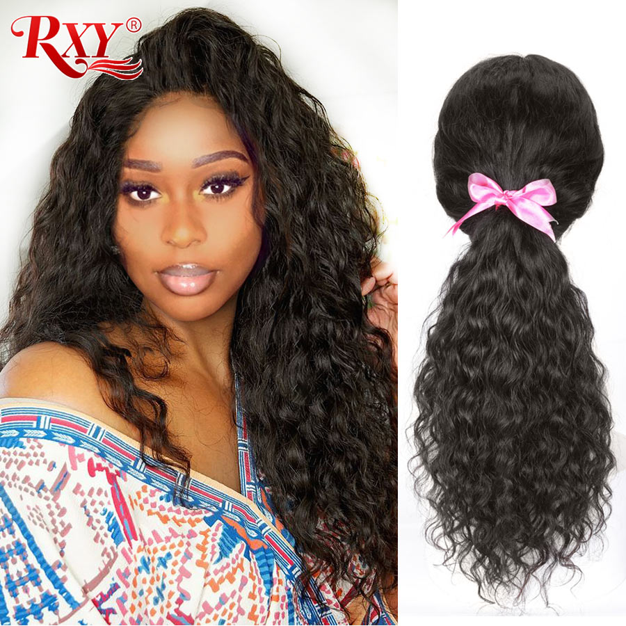 Natural Curly Human Hair Wig RXY Remy Hair Preplucked 360 Lace Frontal Wig Brazilian Lace Front Human Hair Wigs For Black Women