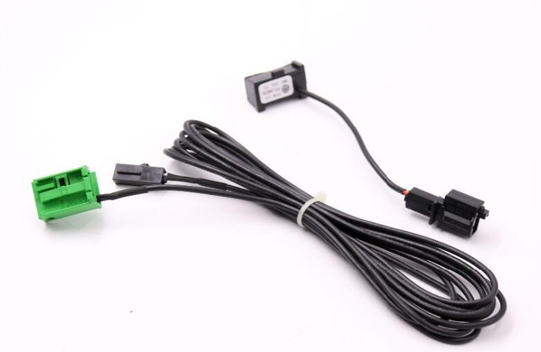 imágenes para AUX cable y Micrófono 3B0035711B para VW RNS 315 Bluetooth