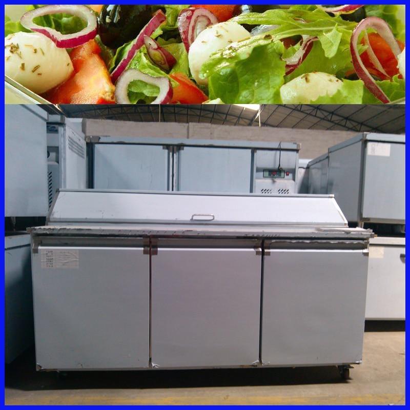Kitchen Bar Thessaloniki: Commecial Salad Bar Table Cooler Display Refrigerator