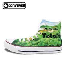 Мой сосед Тоторо обувь Converse All Star Дизайн Ручная роспись холст кроссовки для Для мужчин Для женщин Скейтбординг обувь бренда патроны