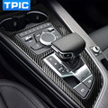 Carbon Fiber Car Control Gear Shift Panel Decorative Frame Cover Trim For Audi a4 b9 2016 2017 Styling