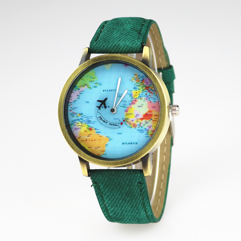 Junyu world map watch globe graduation gift for women wanderlust junyu world map watch globe graduation gift for women wanderlust gift unique map travel men watches quartz wristwatches in quartz watches from watches on gumiabroncs