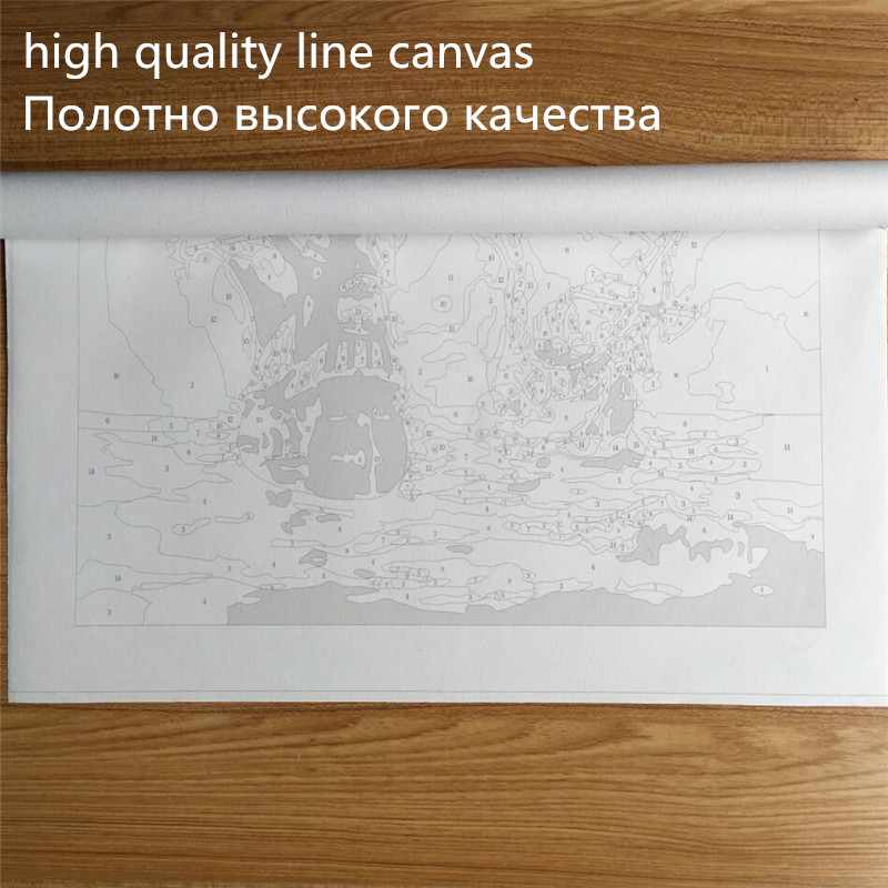 1 Panel Wall Picture Artwork For Bedroom Unique Gift Night View Landscape Frameless Kits Coloring DIY By Numbers Oil Painting in Painting Calligraphy from Home Garden