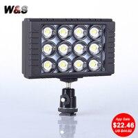 Gorący WanSen W12 3200 K/5600 K DV Camera Pro LED Lampa Wideo Dla CANON Nikon fotografowania ślubu małe studio wideo fotografowania