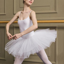 Adultes ballerine Ballet lac des cygnes Performance maille blanc noir Tulle Tutu jupe Spaghetti sangle élastique body justaucorps robe(China)