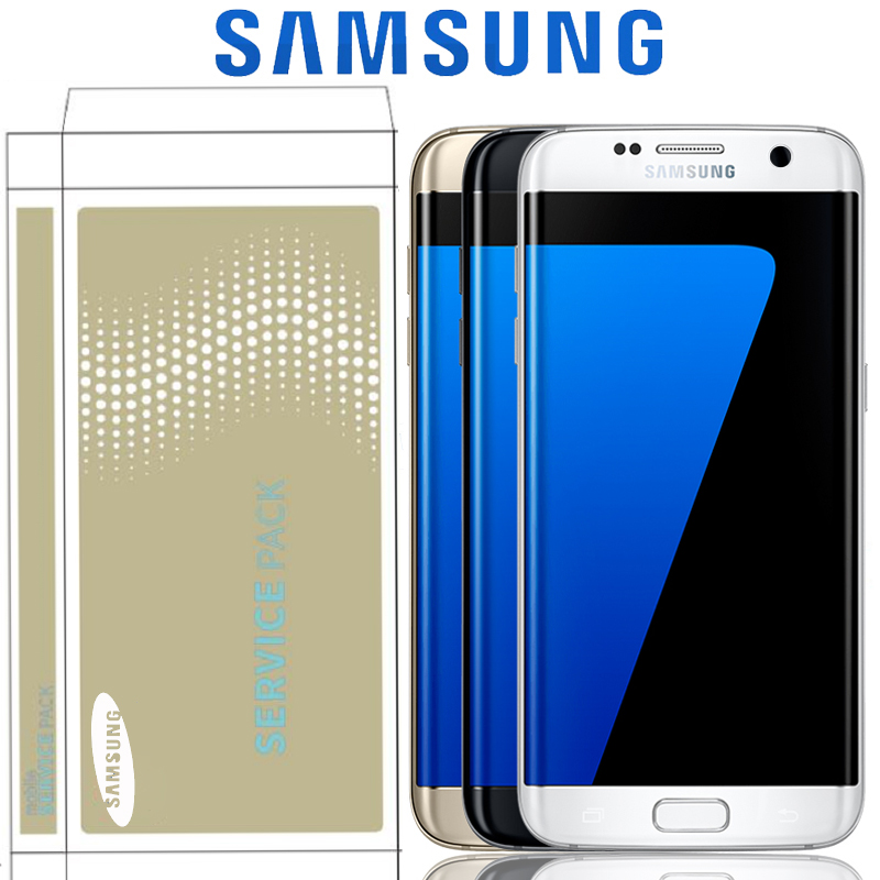 Original 5.5'' SUPER AMOLED For Samsung Galaxy S7 Edge G935 G935F SM-G935F LCD Display Screen Digitizer Assembly Replacement