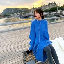 цены на Autumn Winter Long Sleeve Sweater Women Casual O Neck Long Dress Loose Thicken Wool Knit Dress  в интернет-магазинах
