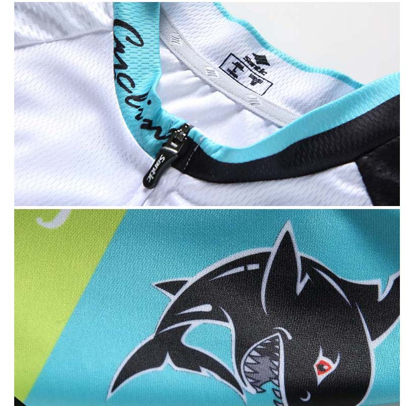 Santic Cycling Jersey Pro Brand Mens MTB Road Bike Jersey Summer Breathable 4D Pad Bicycle Jersey Cycling Clothing Ropa Ciclismo