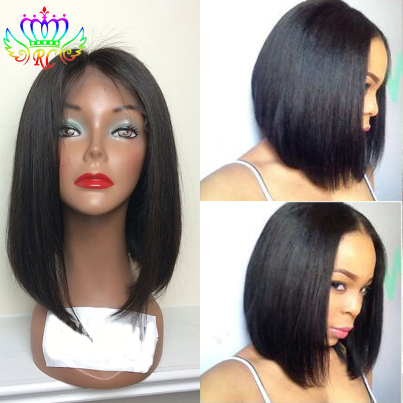 Cheap Short Bob Wigs with Baby Hair Synthetic Half Wig Straight Black Women  Synthetic Lace Front Drag Queen Wigs Free Shipping d931f4ea9641