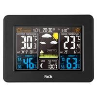 FJ3365B Digital Color Forecast Weather Station Alert Temperature Radio Control Thermometer Hygrometer Sensor Backlight Clock