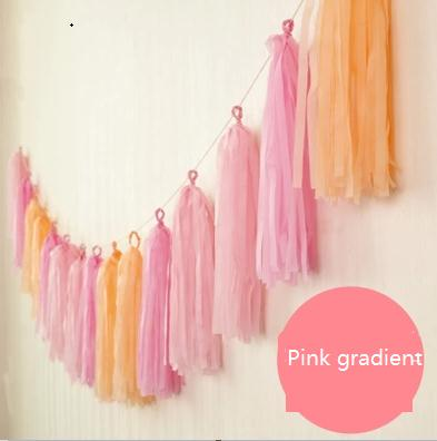 Event & Party Fashion Style 400cm Long Tassels Paper Fringes Fimbriate Gradiant Wedding Birthday Festival Room Baby Party Layout Christmas Holiday Diy Ideal Gift For All Occasions Festive & Party Supplies