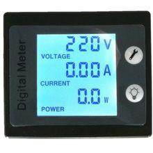 AC от 80 до 260V ЖК-дисплей цифровой 100A вольт ватт Мощность Амперметр Вольтметр 110V 220V