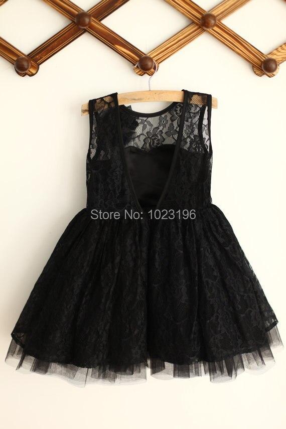 Popular Bridesmaid Dress Kids Girl Black-Buy Cheap Bridesmaid ...