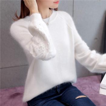 Jesienno-zimowy sweter damski modne w paski swetry z golfem damskie z długim rękawem dzianinowe swetry sweter damski topy tanie i dobre opinie OHCLOTHING see chart COTTON Grube WOMEN Szydełkowane Połowa Stałe zipper MANDARIN COLLAR Wzruszenie ramion Latarnia rękaw