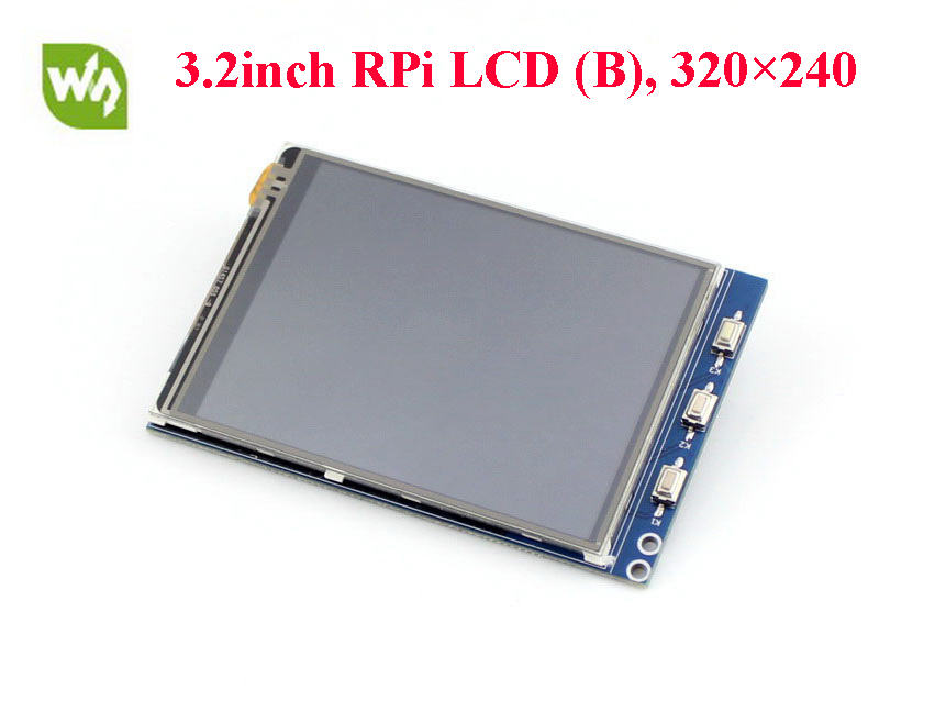 цена на Waveshare 3.2inch RPi LCD (B) Raspberry Pi LCD Display Module 320*240 TFT Resistive Touch Screen Panel SPI Interface for All RPi