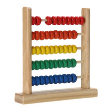 Calculating Beads Small Numbers Counting Colorful Wooden Abacus Kids Baby Toy Math Learning Early Educational Intelligence Toy цены