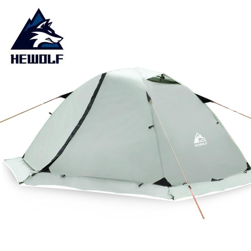 Hewolf 2 personnes tentes extérieures imperméable à l'eau quatre saisons tente d'hiver Double couche jupe de neige pêche Camping randonnée tente pour le tourisme
