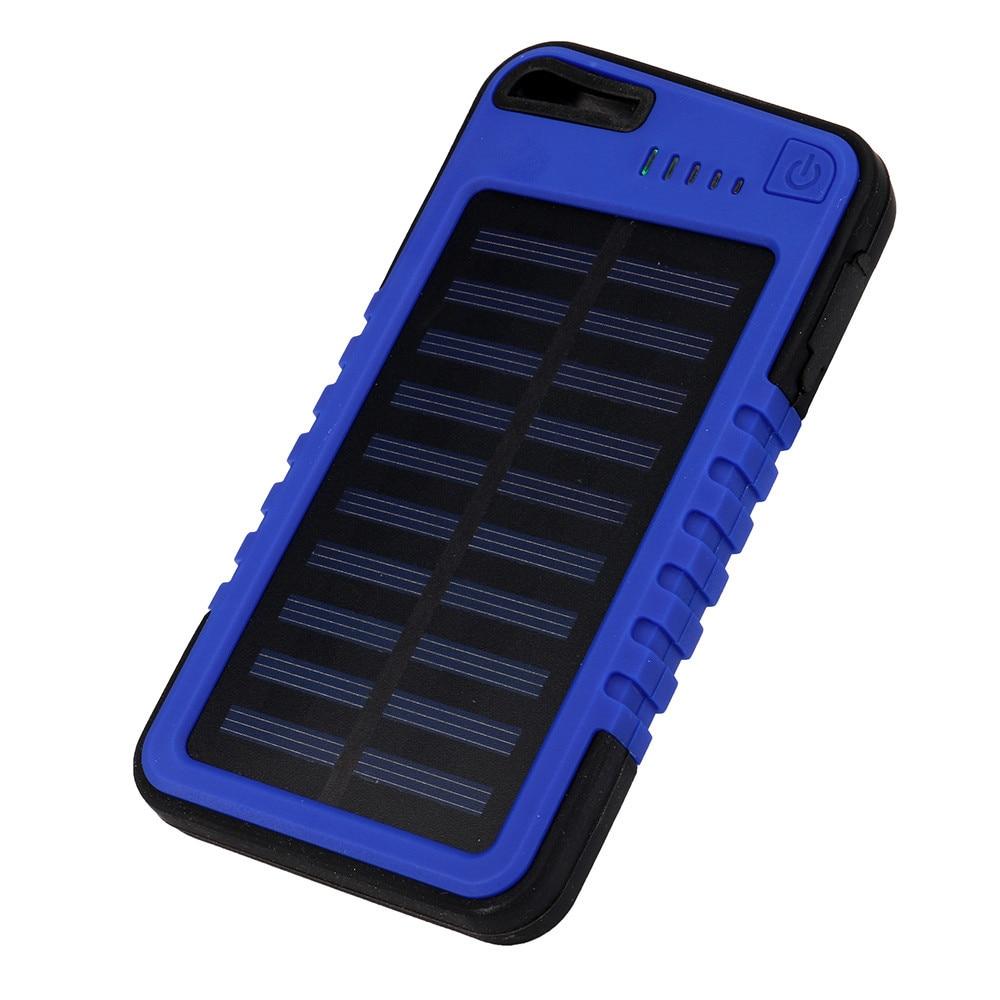 4000mah Dual USB Waterproof Solar Power Bank Battery