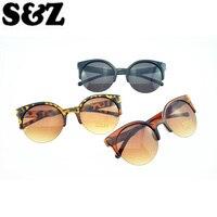 2017 Classic Fashion Retro Designer Sun glasses Super Half frame Glasses Cat Eye Semi-Rimless Women's Sunglasses Glasses Goggles