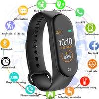 men waterproof M4 Smart Bracelet Waterproof Heart Rate Monitor Smart Band Blood Pressure Fitness Tracker Sport Watch Men Women mi band 4 (1)