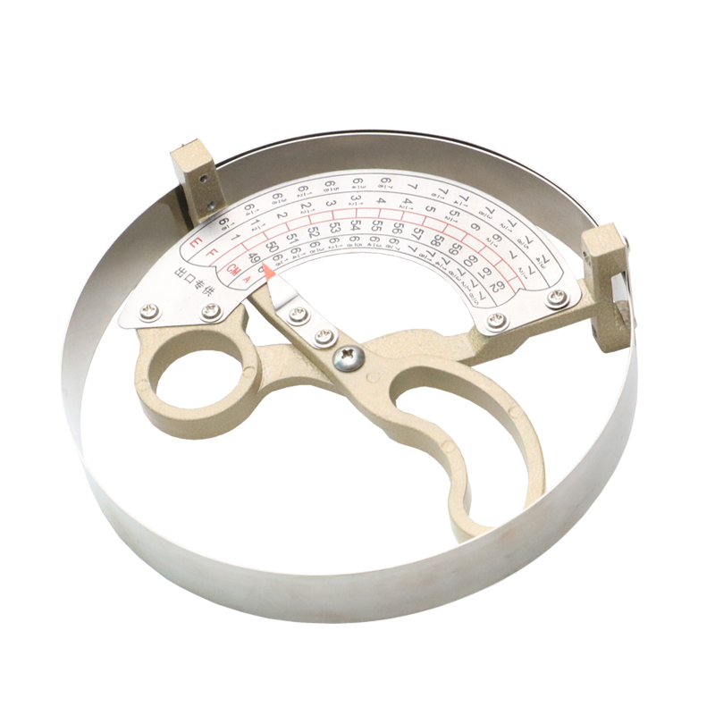 42-70CM Stainless Steel Scissor Type Ring Compass Cap Size Measuring Tool Ruler Hat Caliper