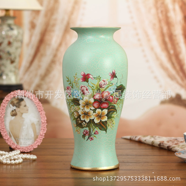 Antique Hand Painted Ceramic Vases Garden Flower Vase Home