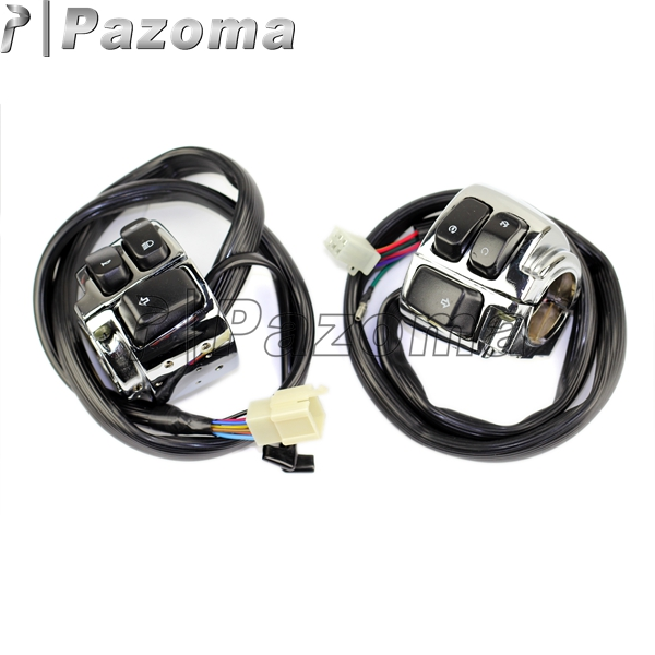 compare prices on motorcycle wiring harness online shopping buy pazoma hot aluminum motorcycle 1 handlebar control switches wiring harness for 1996 2012