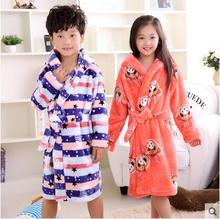 6 Styles Winter Spring Warm Kids Jumpsuits Children Cartoon Flannel Robes Colorful Animal Home Wear For Kids Birthday Gift