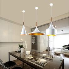 Nordic Retro Industrial Wind Led Aluminum Hanging Lamp Modern Living Room Restaurant Cafe Bar Lighting Lamp Pendant Luminaria