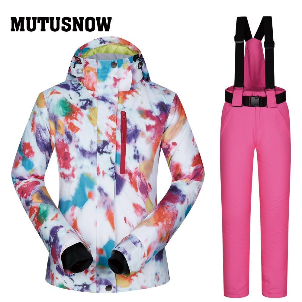 Plein air de haute qualité Ski costume femmes coupe-vent imperméable respirant chaud Snowboard vestes et pantalons hiver Ski veste femmes