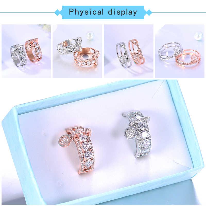 ERLUER модное обручальное кольцо для женщин, ювелирные изделия из розового золота, классические кольца для рождественской вечеринки, свадебные кольца, ювелирные изделия дружбы, подарки