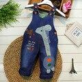 2016 primavera outono novo bebê projeto menino e meninas dos desenhos animados suave calças Jeans macacão jardineira B037