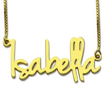 AILIN Gold Personalized Name Necklace Tiny Nameplate Retro Style Custom Pendant Valentines Day Jewelry