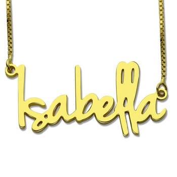 Collar de nombre personalizado de oro AILIN, pequeño plato con nombre, estilo Retro, Colgante para Nombre personalizado, joyería para el Día de San Valentín