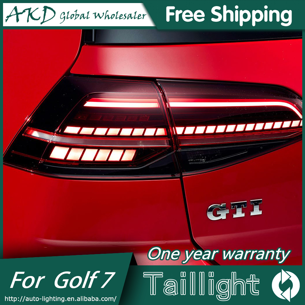 AKD Car Styling for New VW Golf 7 Tail Lights 2013-2017  Golf7 MK7 LED Tail Light GTI R20 Rear Lamp LED DRL+Brake+Park+Signal
