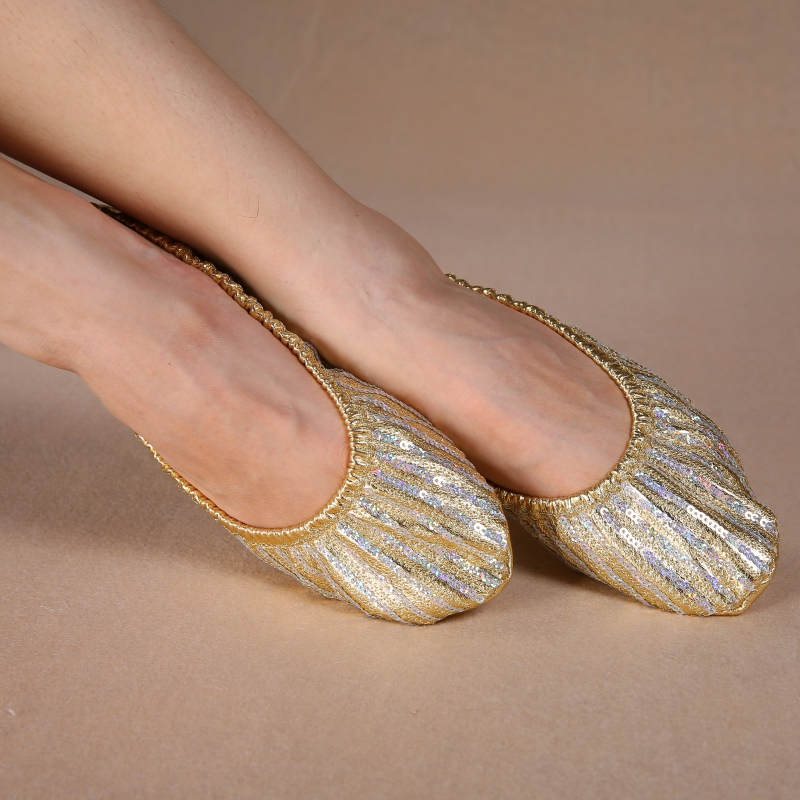 Belly Dance Adult Women Professional Shoes Slippers Flat Heel Ballerina Leather Sole