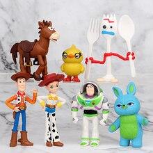 7/9/10/12/17 pcs/set Toy Story 4 Buzz Lightyear Woody Jessie Lotso Bullseye Horse Figure Toys Gifts for Children