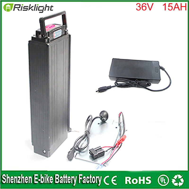 Тип задней стойки электрический велосипед 36 В <font><b>15ah</b></font> литий-ионный аккумулятор для 36 В 500 Вт 8fun/bafang двигателя и Мощность фары и Задние фонари