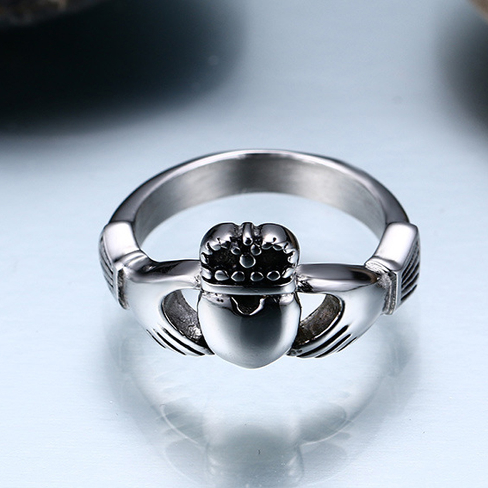 Hot Sale The Irish Wedding Ring My Hands Give You My Heart Titanium