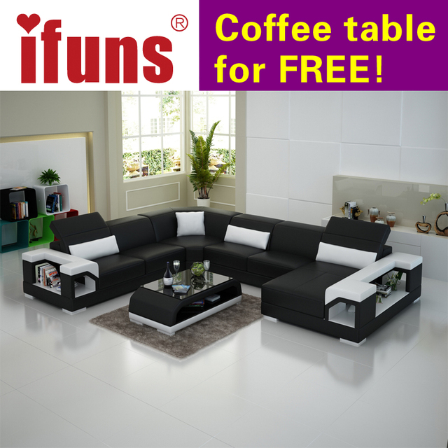 US $3350.0 |IFUNS modern living room furniture,special design couch,high  quality leather sofa,u shaped corner sofas-in Living Room Sofas from ...