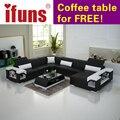 Ifuns moderno muebles de sala, sofá de diseño especial, de alta calidad sofá de cuero, sofás de la esquina en forma de u