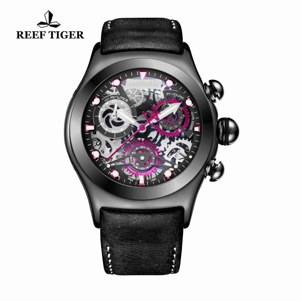 שונית טייגר/RT ספורט שעונים לגברים ייחודי שעון עם מוצק פלדה שעונים RGA792