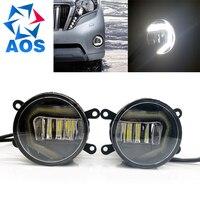 2PCS Car Styling LED DRL Super Bright Fog Light Car Daytime Running Lights For Toyota Corolla