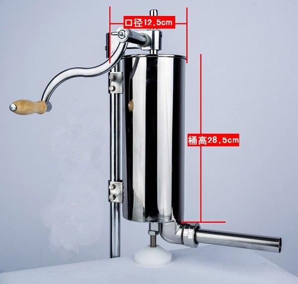 2018 new design 7LB vertical sausage stuffer,sausage making machine,sausage filler with stainless steel sausage tube