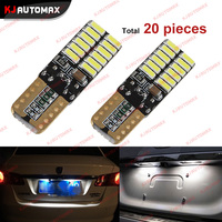 10pcs Canbus Free Car Auto T10 24smd 4014 LED Bulbs For License Plate Light Position Parking