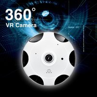 Indoor 3.0MP Wireless HD FishEye IP WiFi Panoramic Camera 960P 360 Degree 1.3MP Security Camera WQ 004 US Plug