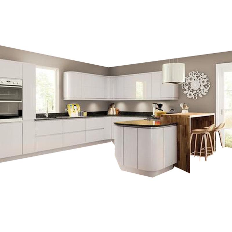 Us 3680 0 Handleless Design Light Grey High Gloss Kitchen Cabinets In Living Room Sets From Furniture On Aliexpress Com Alibaba Group